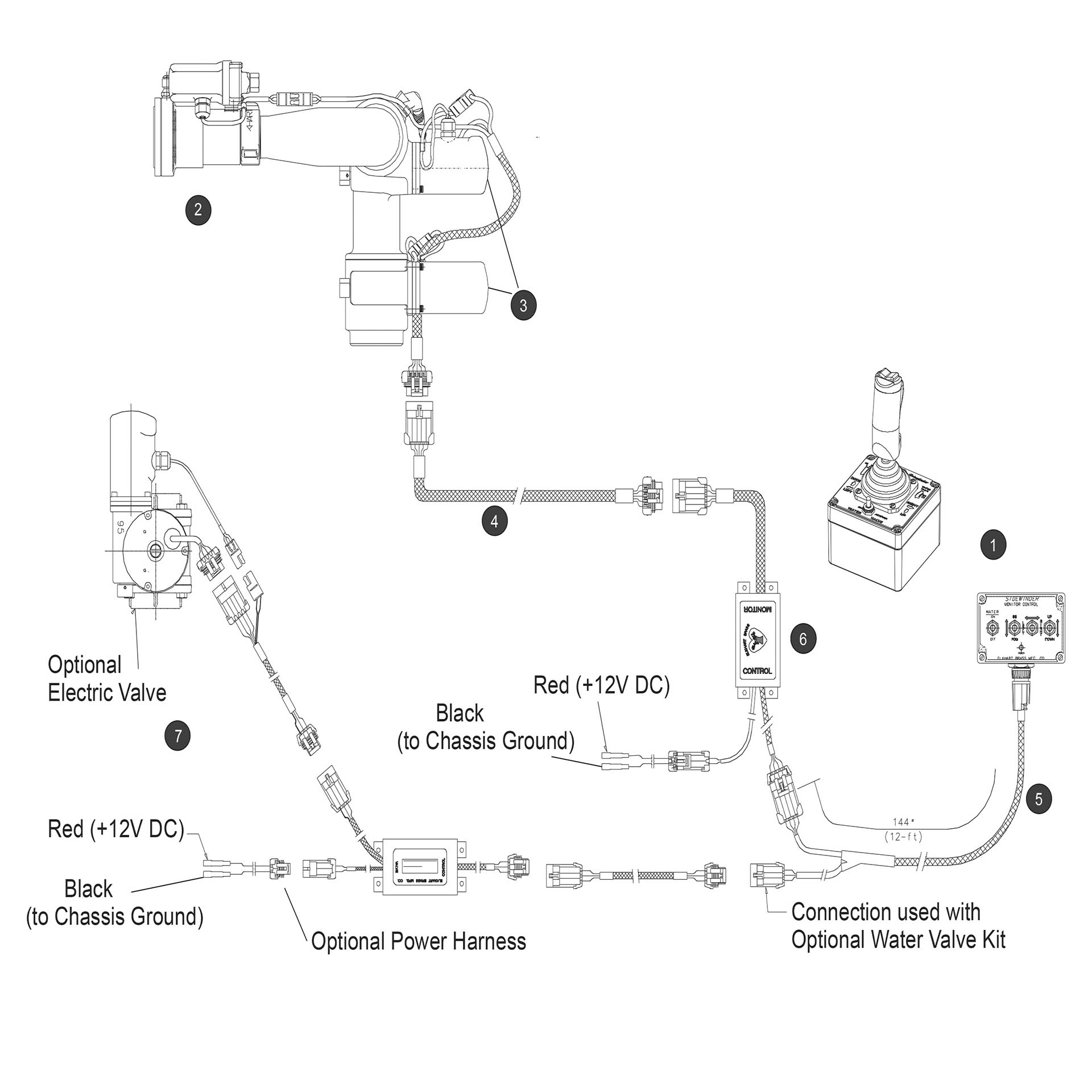 buy elkhart electric operated water cannon online at access truck parts rh accesstruckparts com Chevy Truck Wiring Diagram Western Cable Plow Wiring Diagram